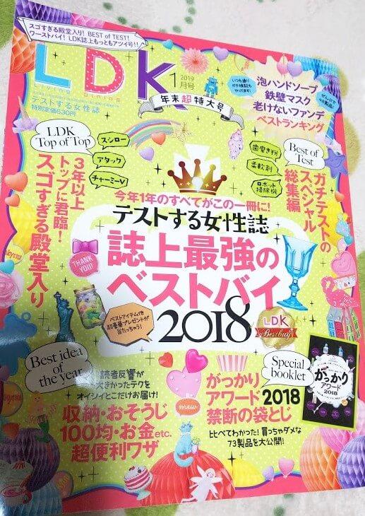 雑誌LDK2019年1月号<年末超特大号>