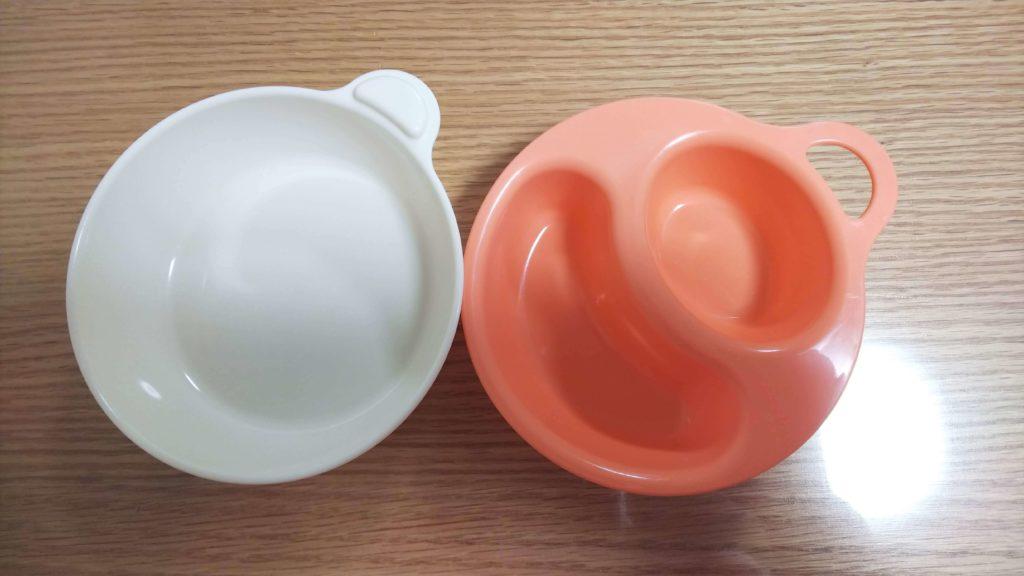 100円ショップのお皿。まだオレンジの方しか使っていないので、まだしばらく使えそう。