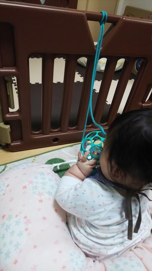 こんな遊び方も。息子は体重が重く、力も強いですが、びくともしません。。