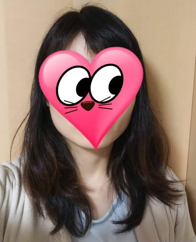 7日目の夜の髪の様子