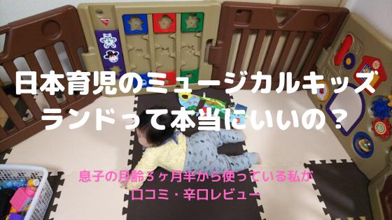 日本育児のミュージカルキッズ ランドって本当にいいの?