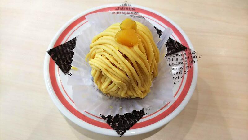 はま寿司の安納芋のモンブラン